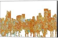 Framed Pittsburgh Pennsylvania - Rust