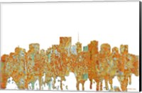 Framed Richmond Virginia Skyline - Rust