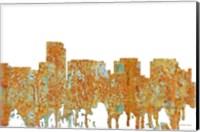 Framed Rosslyn Virginia Skyline - Rust