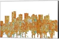 Framed Scottsdale Arizona Skyline - Rust