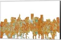 Framed St Paul Minnesota Skyline- Rust