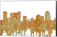Framed St Petersburg Florida Skyline - Rust
