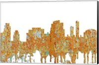 Framed Tempe Arizona Skyline - Rust