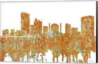 Framed Toledo Skyline - Rust