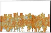 Framed Topeka Kansas Skyline - Rust