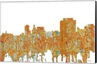Framed Trenton New Jersey Skyline - Rust