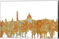 Framed Washington DC Skyline - Rust