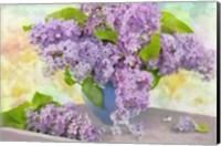 Framed Lilacs in a Vase