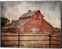 Framed York Road Barn