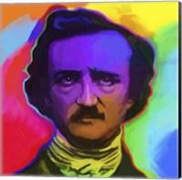 Framed Edgar Allen Poe Pop Art
