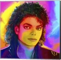 Framed Michael Jackson Pop Art