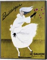 Framed Bourrasque-Eau Le Galion