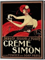 Framed Creme Simon
