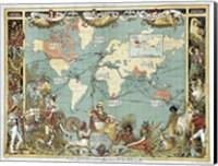 Framed British Empire In 1886