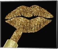 Framed Gold Glitter Lipstick