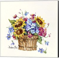 Framed Sunflower Basket I