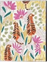 Framed Hello Tiger - Orange