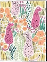Framed Hello Cheetah - Pink