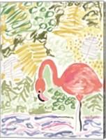 Framed Fancy the Flamingo