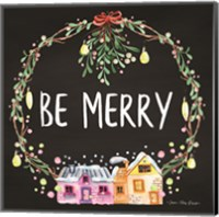 Framed Be Merry Wreath