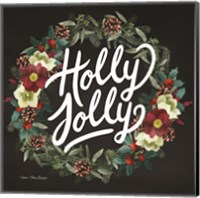 Framed Holly Jolly Wreath