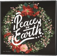 Framed Peace on Earth Wreath