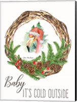 Framed Baby It's Cold Outside Wreath