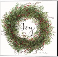 Framed Joy Wreath
