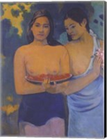 Framed Two Women from Tahiti