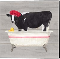 Framed Bath time for Cows Tub