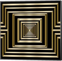 Framed Gold Deco 7