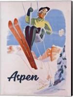 Framed Vintage Aspen Ski Lift