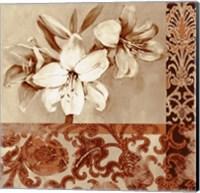 Framed Portret Of White Lily