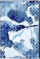 Framed Indigo 1 Tie Dye