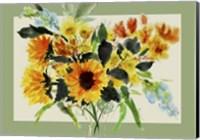Framed Sunnflowers Mat