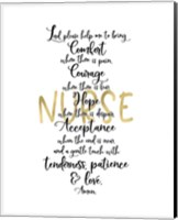 Framed Nurse Prayer