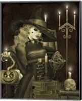 Framed Halloween Graveyard - E