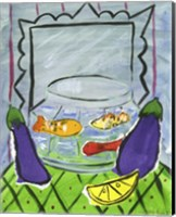 Framed Eggplants and Fish