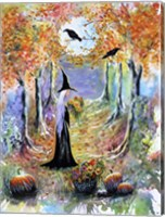 Framed Autumn Witch