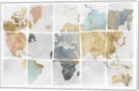 Framed Tiled Map