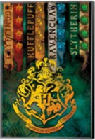 Framed Harry Potter - Crests II