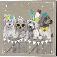 Framed Fancypants Wacky Dogs III