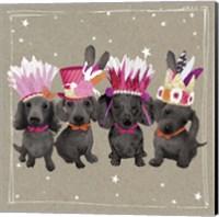Framed Fancypants Wacky Dogs VII