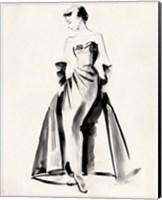 Framed Vintage Costume Sketch I