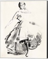 Framed Vintage Costume Sketch II