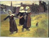 Framed Breton Girls, 1888