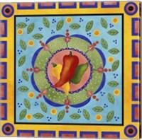 Framed Spanish Peppers I
