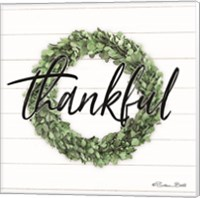 Framed Thankful Boxwood Wreath