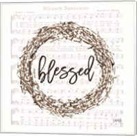 Framed Blessed Assurance Bless Wreath
