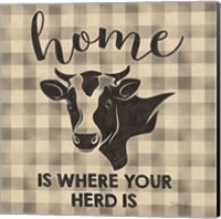 Framed Home is Where Your Herd Is
